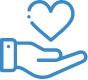 heart above hand icon